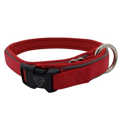 Collar Neoprene padded Large Red