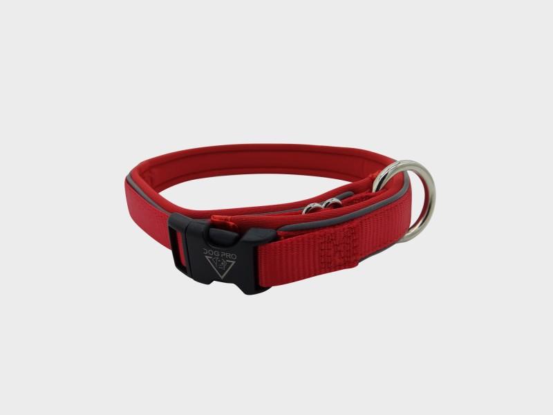Collar Neoprene padded Medium Red